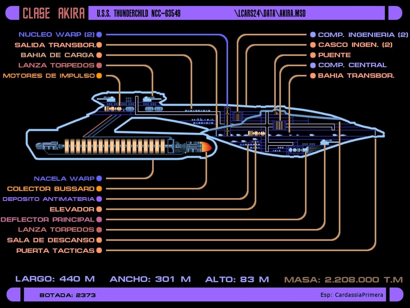 Star Trek Ships LCARS 24 Schematics Blueprints
