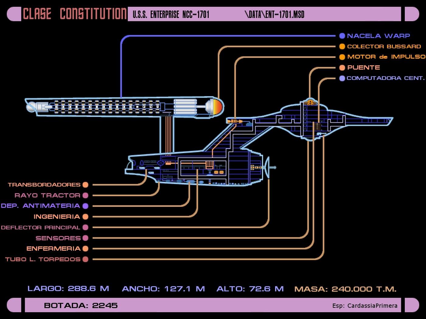 Constitution Class USS Enterprise NCC 1701