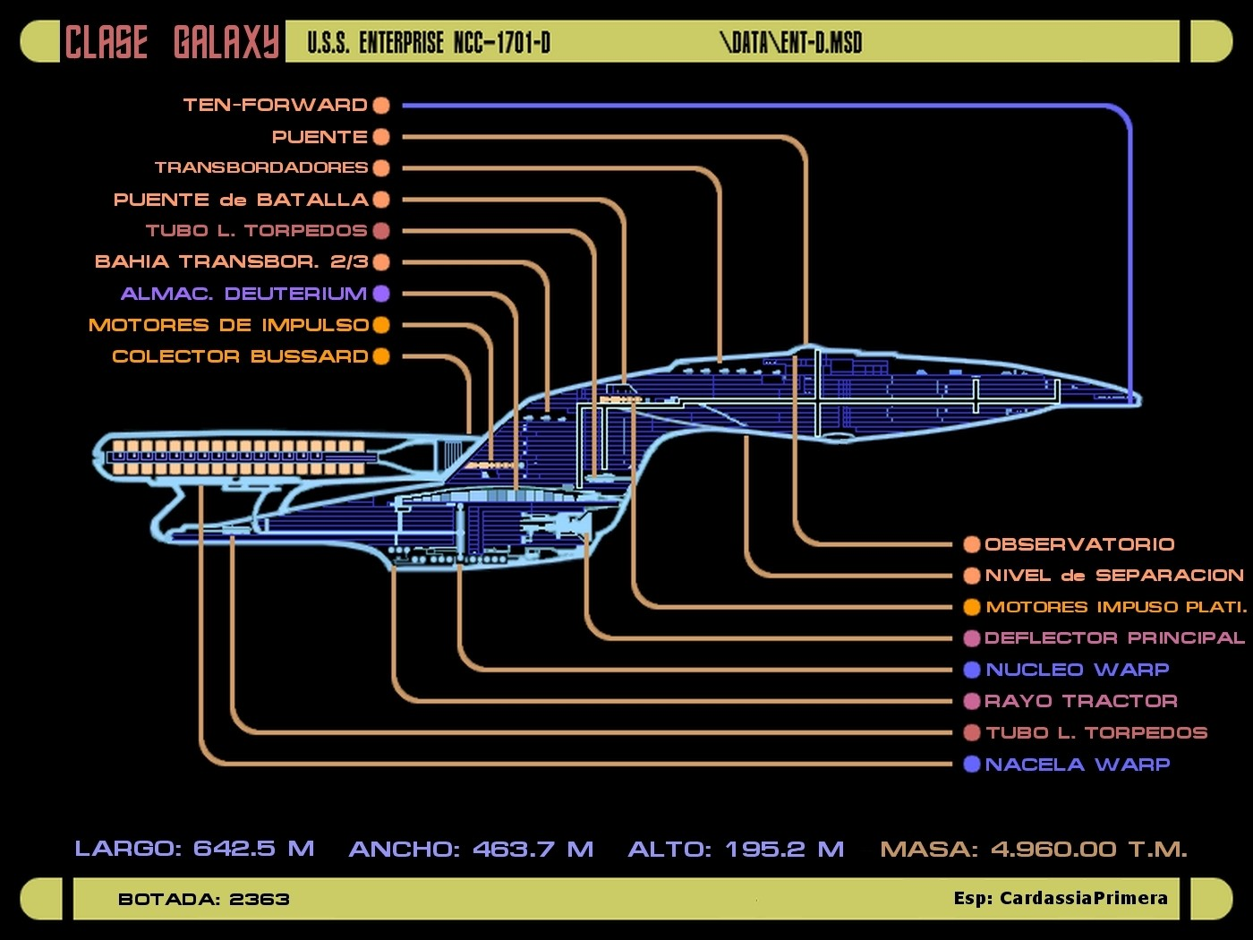 star trek lcars - schematics - star trek blueprints - ships starships, Schematic