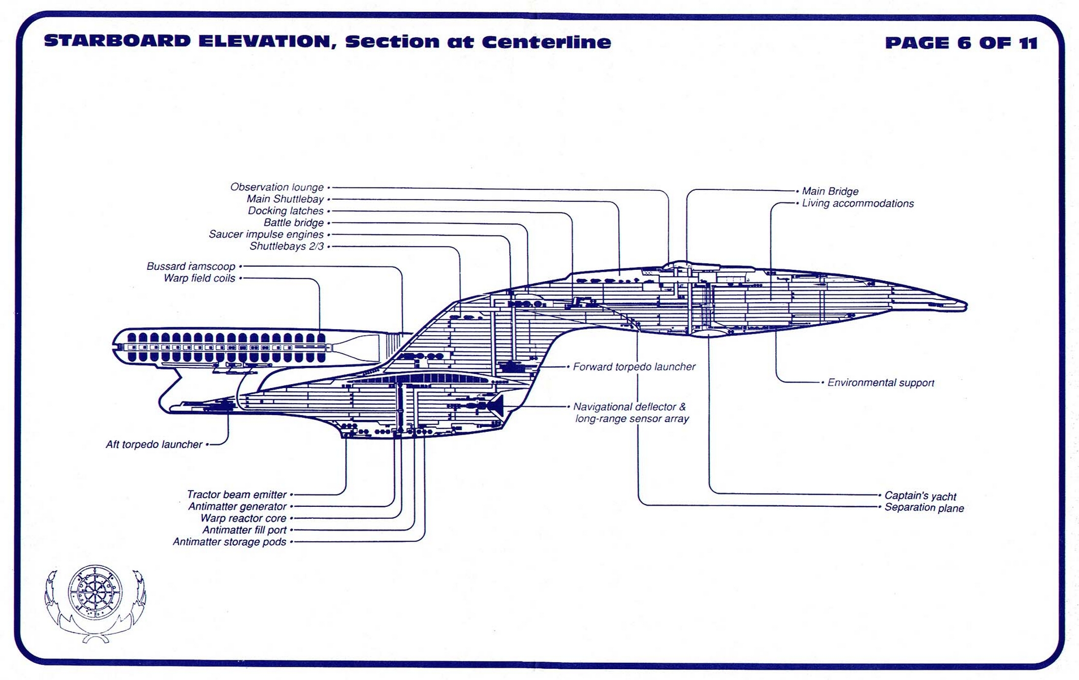 Star Trek USS Enterprise NCC 1701 D Blueprints Schematics Ncc D Schematics on