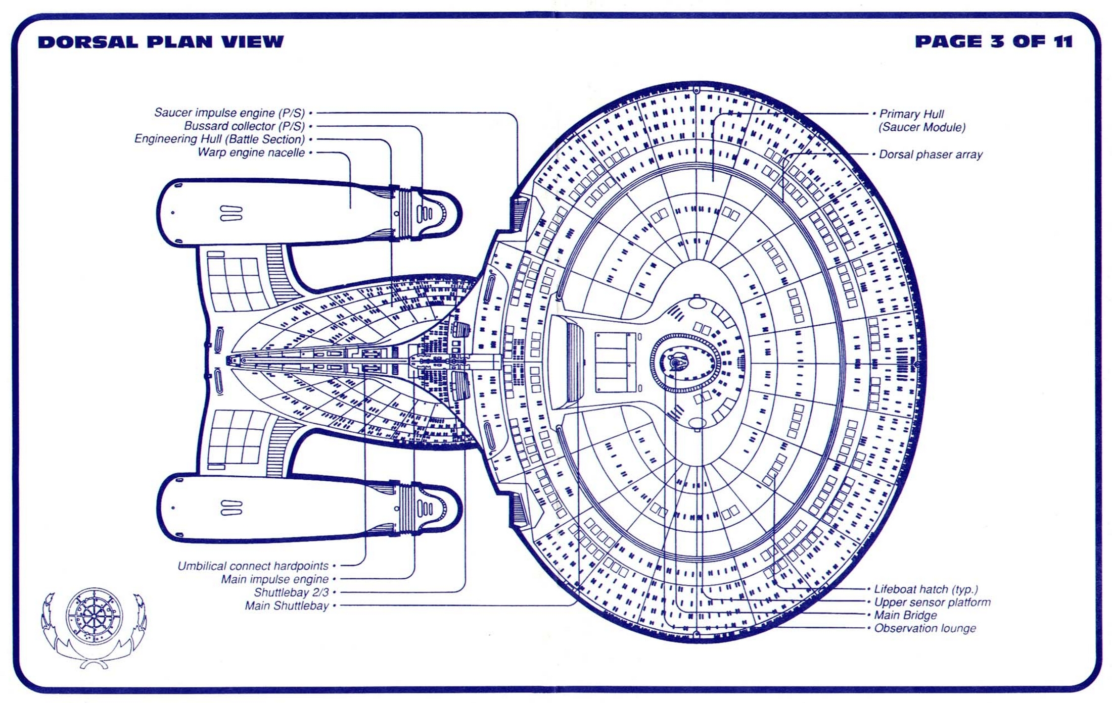 star trek uss enterprise ncc 1701 d blueprints schematics, Schematic