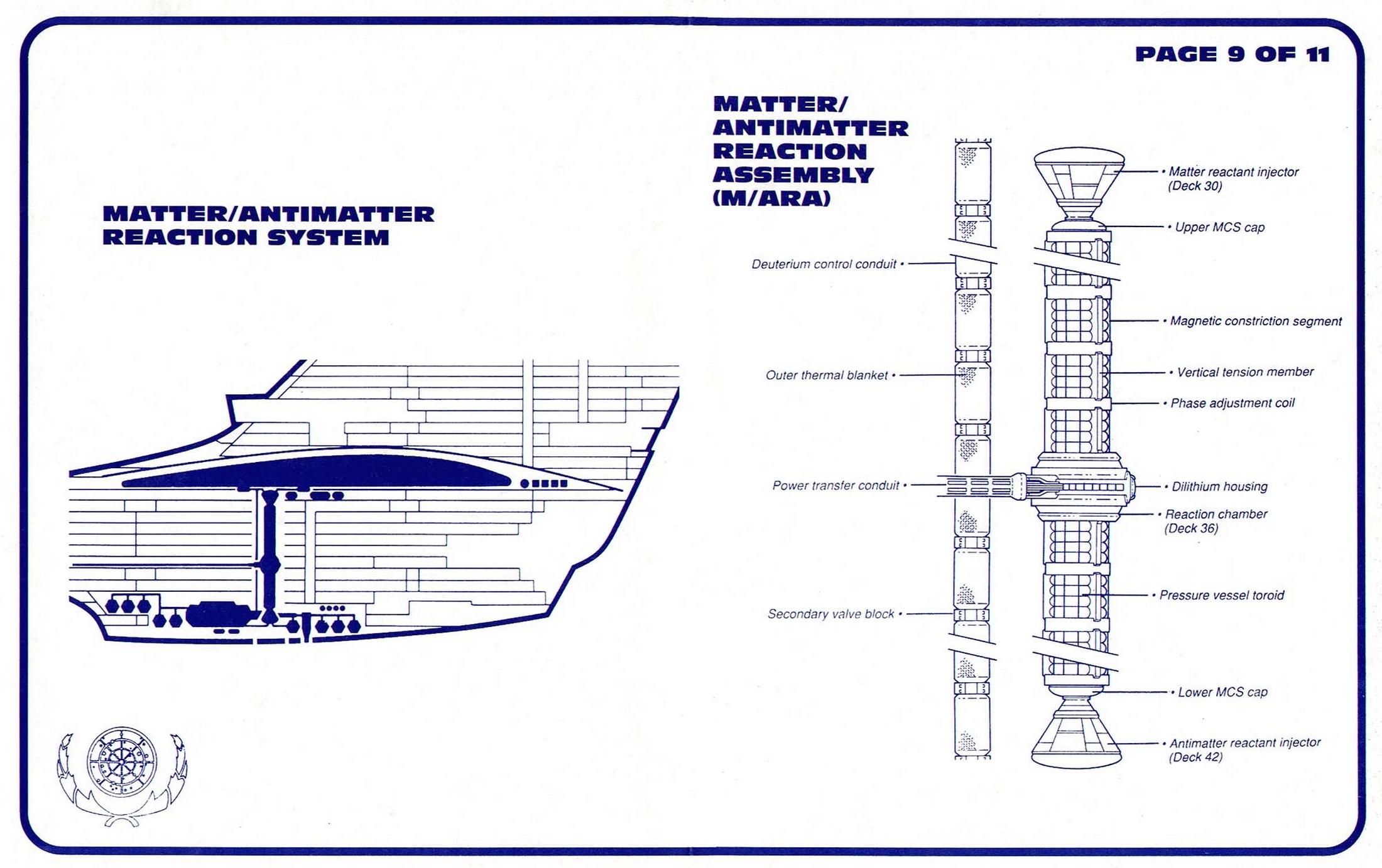 Star Trek USS Enterprise NCC 1701 D Blueprints Schematics
