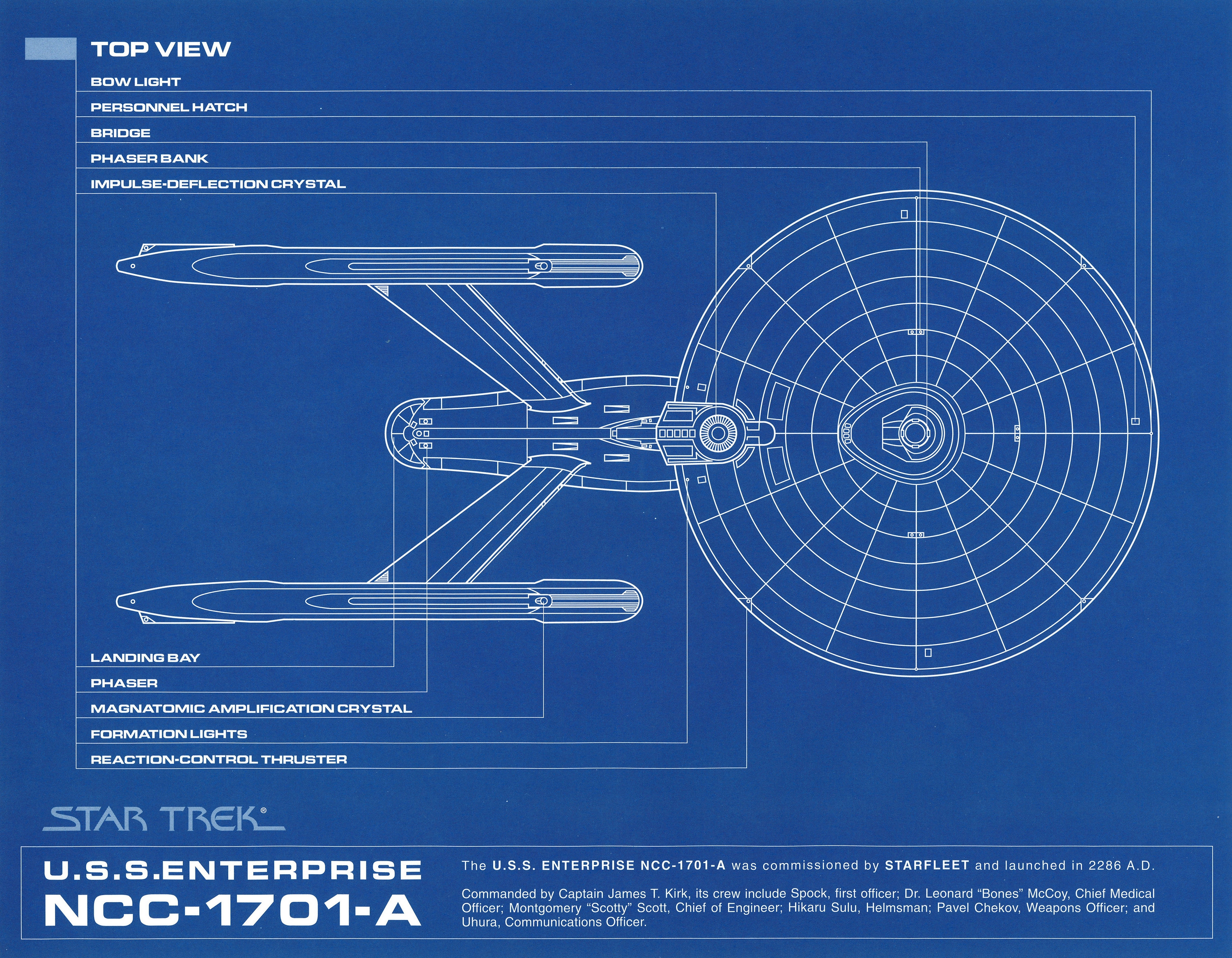 Star trek uss enterprise a d deep space 9 blueprints for Blueprint software download
