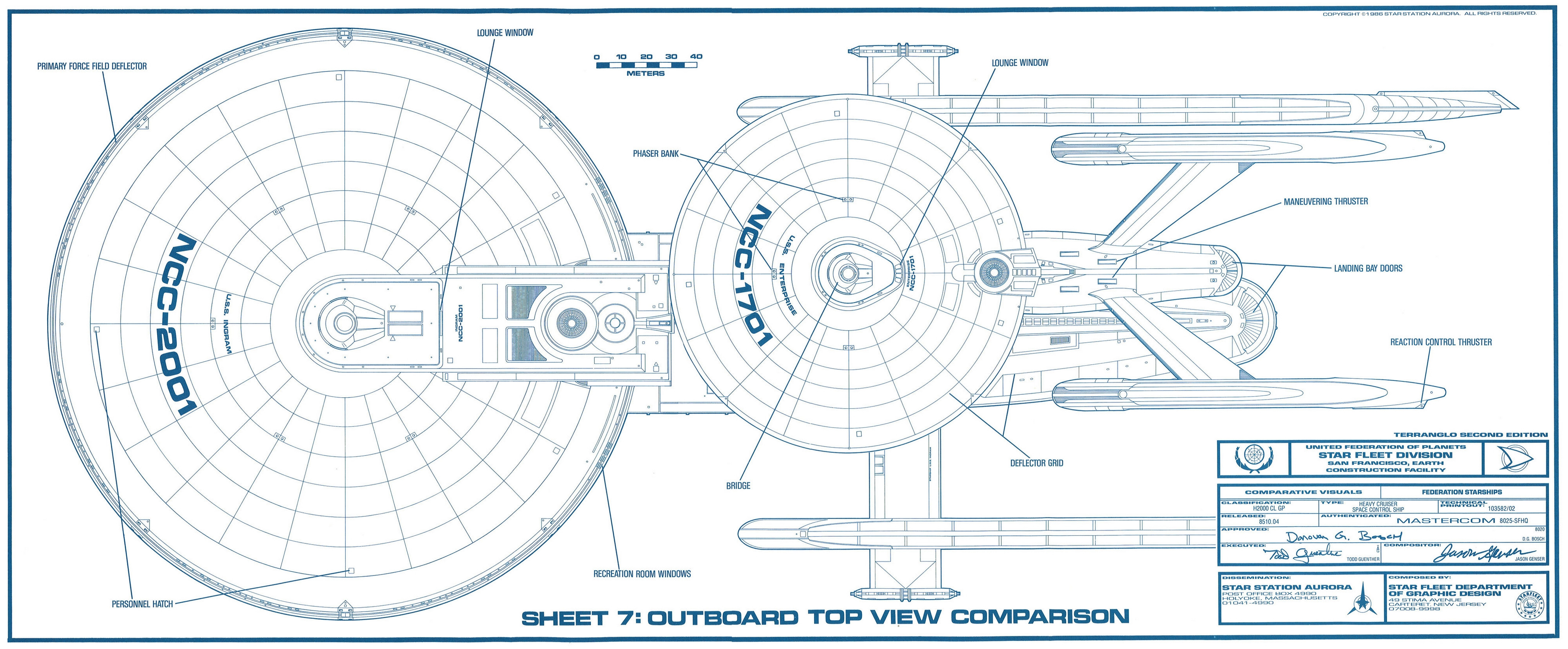 High Quality Excelsior Class And Constitution Class Blueprints