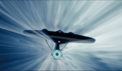 USS Enterprise at Warp Drive